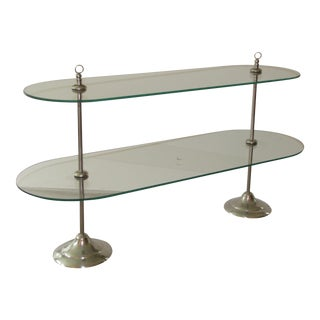 Chrome & Glass Dessert Stand