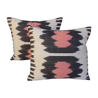 Silk Ikat Fringe Pillows - Pair