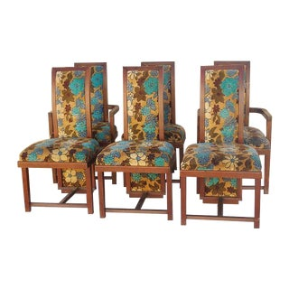Frank Lloyd Wright Dining Chairs - Set of 6