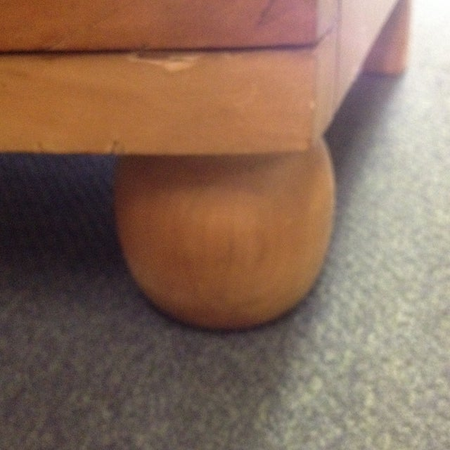 Large Curved Front Three Drawer Dresser - Image 7 of 9