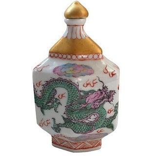 Chinese Dragon Porcelain Bottle
