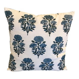 Accent Pillow Indigo Dyed W/ Floral Embroidery by Creative Co-Op