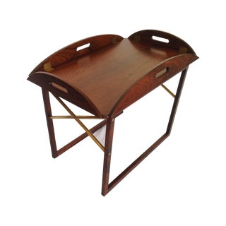 Svend Langkilde Rosewood & Brass Tray Table