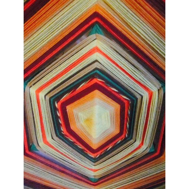 Boho Handwoven Mandala Wool Wall Hanging - Image 5 of 6