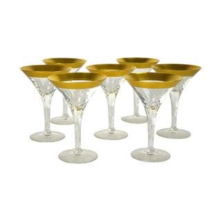 Vintage Italian Martini Glasses - S/7