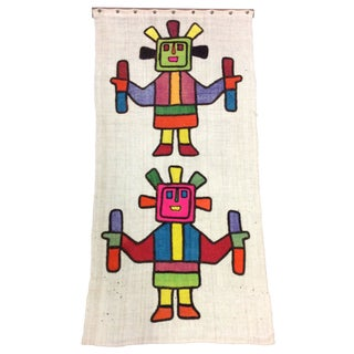 1960s Modern Mexican Wall Wool Tapestry