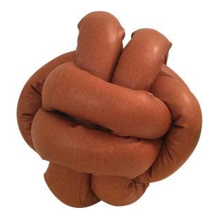 Modern Brown Knot Pillow