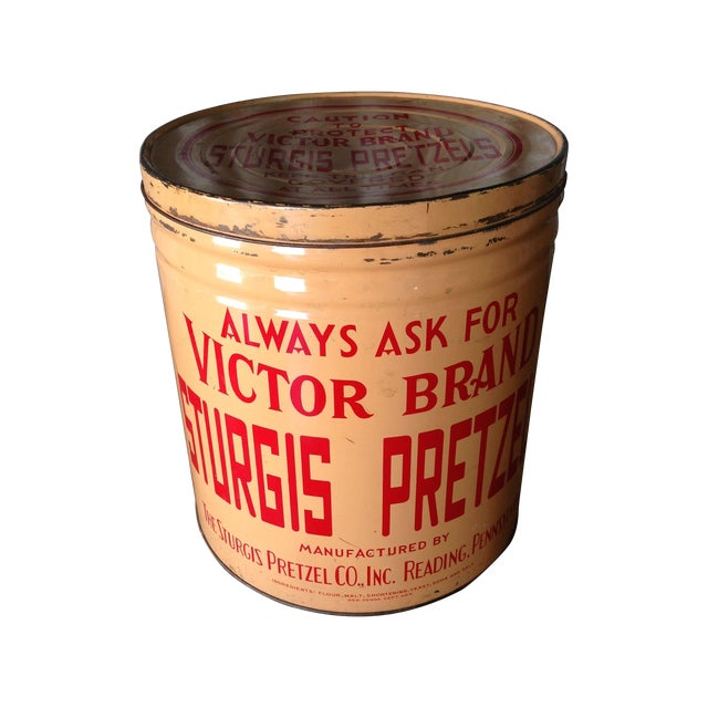 Vintage Eat Economy Pretzels Container - Image 1 of 6
