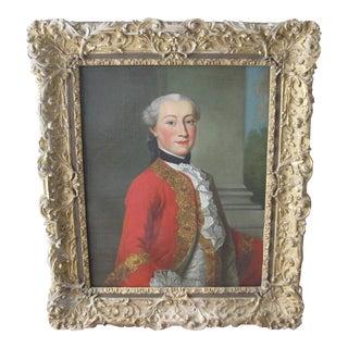 Framed 18th-Century Portrait