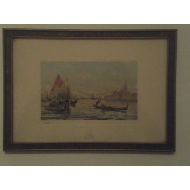 1920s Framed Colored Venice Print - Image 2 of 8