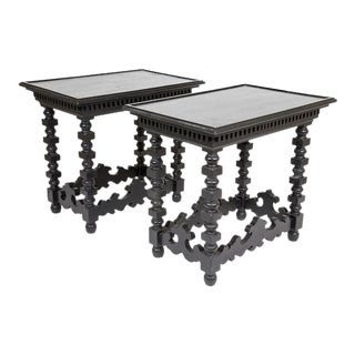 Spanish Revival Side Tables - A Pair