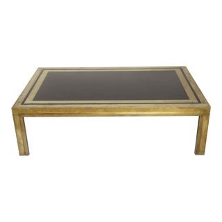 French Brass & Lacquered Cocktail Table