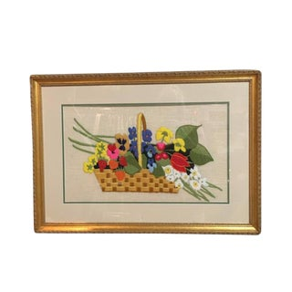 Crewel Needlework Embroidery Art