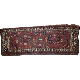 Handmade Antique Collectible Turkoman Yomud Rug - 1′2″ × 3′2″