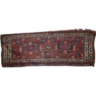 Handmade Antique Collectible Turkoman Yomud Rug - 1′2″ × 3′2″