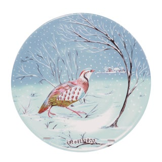 "Haviland Limoges ""A Partridge in a Pear Tree"" Plate"