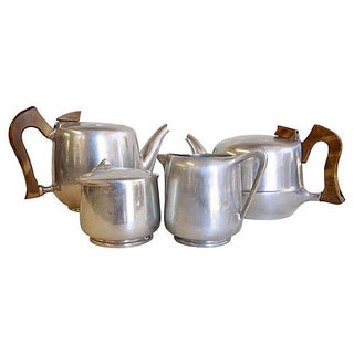 English Picquot Ware Tea Service - 4 Pieces