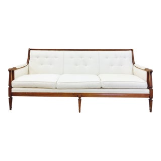 Vintage Mid-Century Tufted Button Back Sofa