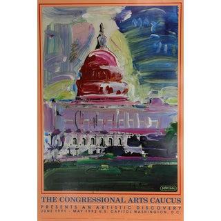 Peter Max Congressional Arts Caucus Poster