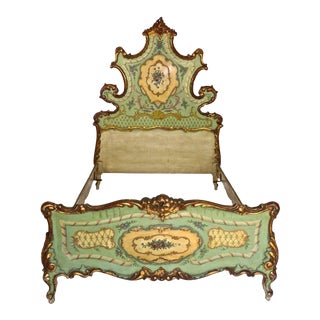 19th Century Hand Painted Venetian Bed