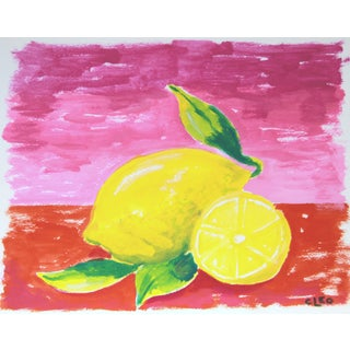 Lemon Still Life Fruit Abstract by Cleo