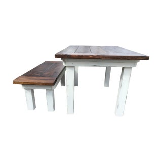 Rustic Farm Table and Bench