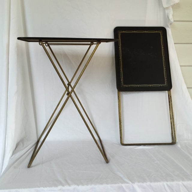 Midcentury Folding Tables - A Pair - Image 2 of 8