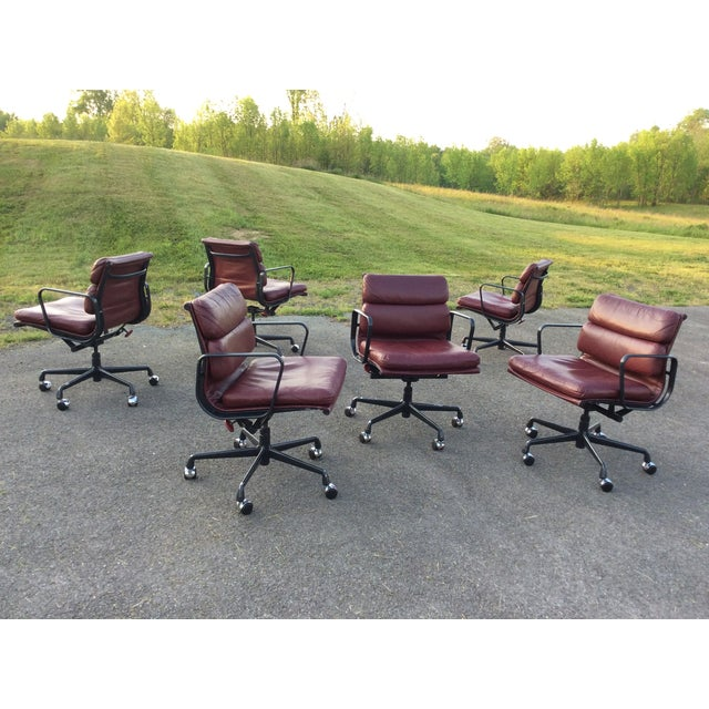 Image of Eames Soft Pad Aluminum Group Chairs - Set of 6