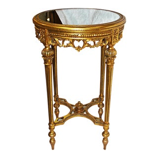 Gold Leaf Side Table