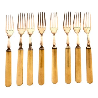 Victorian Silver Plated Forks - Set of 8