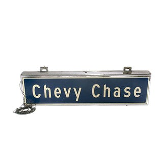 'Chevy Chase' Subway Sign
