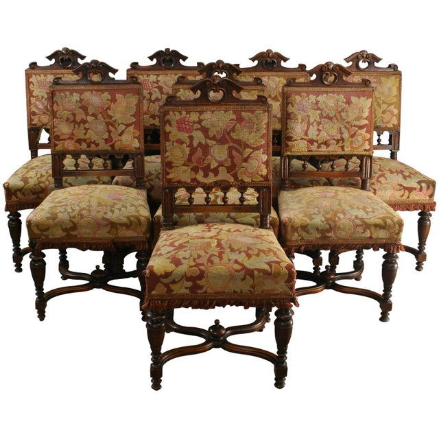 Antique Henry II Style Dining Chairs