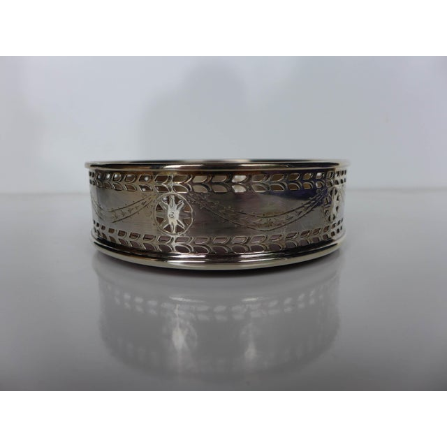 Pierced Silver Plated Wine Coaster - Image 3 of 6