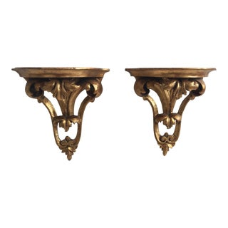 Italian Gilt Brackets - Pair