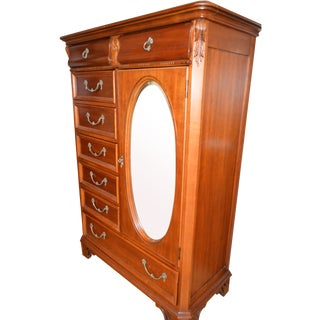 Cherry Wood French Country Wardrobe