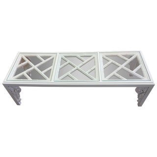 Vintage White Lacquer Elephant Coffee Table