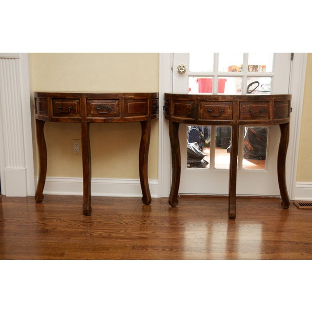Demi Lune Tables or Round Accent Table - Set of 2 - Image 2 of 8