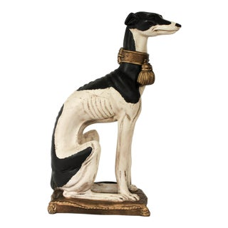 Hollywood Regency Style Whippet Statue