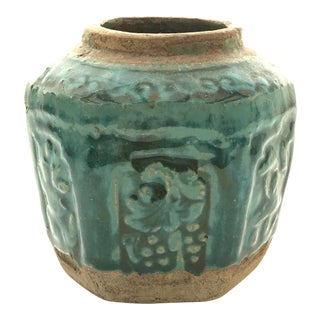 Small Green Glazed Ginger Jar