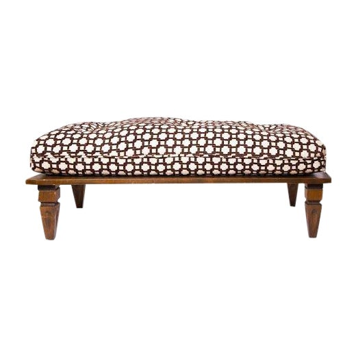 wooden bench with custom upholstered seat cushion chairish