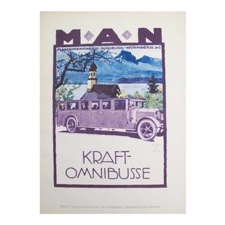1926 German Transport Poster, Purple People Mover