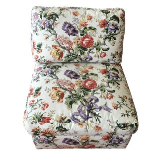 Henredon Floral Slipper Chair