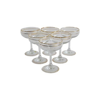 Italian Gilded Champagne Coupes - Set of 6