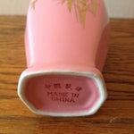 Image of Vintage Pink And Gold Gilded Vase