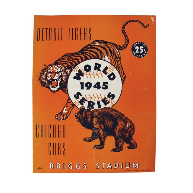 Vintage World Series Tigers & Cubs Program Book - Image 1 of 5
