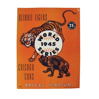 Vintage World Series Tigers & Cubs Program Book