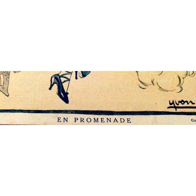 "Original 1920 ""En Promenade"" Fashion Print - Image 7 of 9"