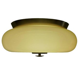 Yellow Murano Glass Flush Mount Light