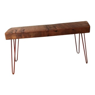 Wooden Hair Pin Leg Bench