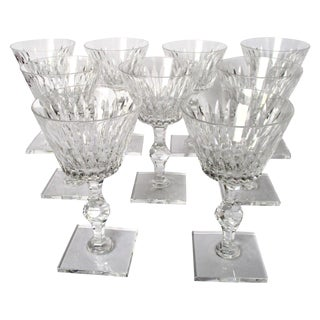 Hawkes Champagne/Sherbet Crystal Stems - Set of 9